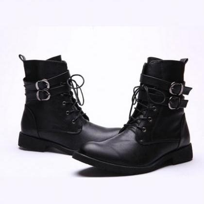 Handmade Men Military Style Boots, ..