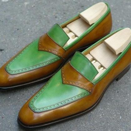 Handmade Men two tone formal shoes,..