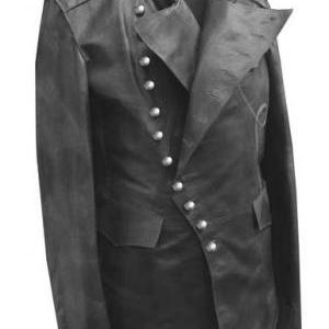 MEN STEAM PUNK JACKET, REAL LEATHER..