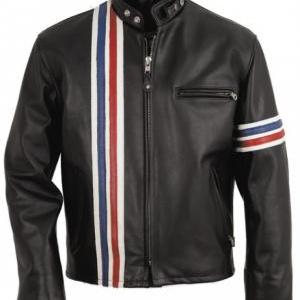 EASY RIDER STRIPED LEATHER MOTORCYC..