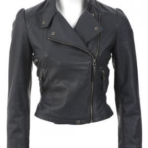 Womens Leather Motor Bike Jacket