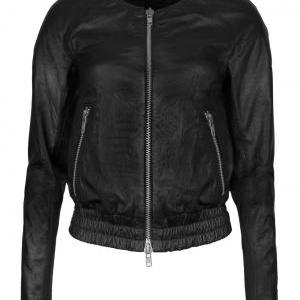 Women Leather Bomber Jacket , real ..