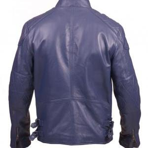 NAVY BLUE LEATHER JACKET, ORIGINAL ..