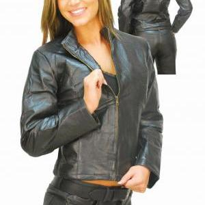 Women's Leather Jacket, women blac..