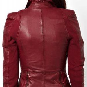 LYCRA BIKER JACKET IN COWHIDE LEATH..