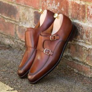 MENS LEATHER SHOES, HANDMADE LEATHE..