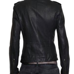 MENS BIKER LEATHER JACKET, MEN BLAC..