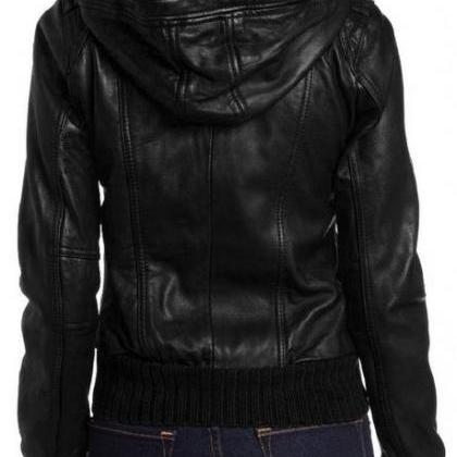 WOMENS HOODIE JACKET, BLACK COLOR H..