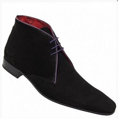 HANDMADE MEN CHELSEA SUEDE LEATHER ..