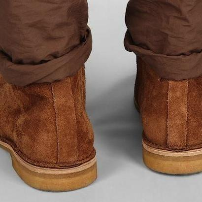 Handmade Mens suede leather boots w..