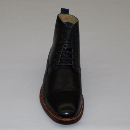 Handmade mens Ankle-high leather bo..