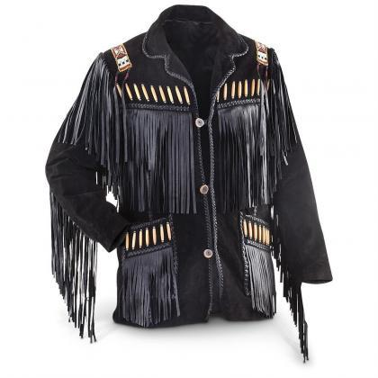 MEN'S WESTERN JACKET BLACK COWBOY L..