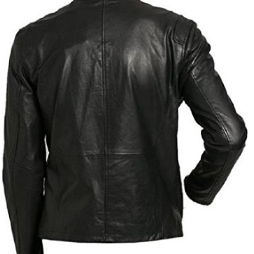 Mens classic black leather jacket, ..