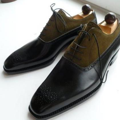 Handmade men two tone shoes, Mens f..