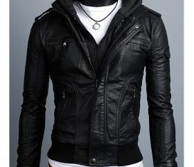 Men leather jacket, ..