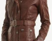 Women brown belted l..