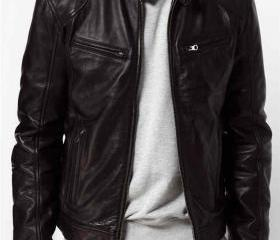 Men black Leather ja..