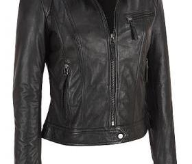 WOMEN BLACK LEATHER ..