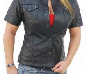 Womens leather shirt..
