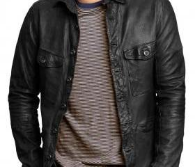 Trendy Leather Shirt..