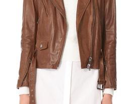 Women's Brown Biker ..