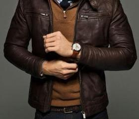 MEN SLIM FIT LEATHER..