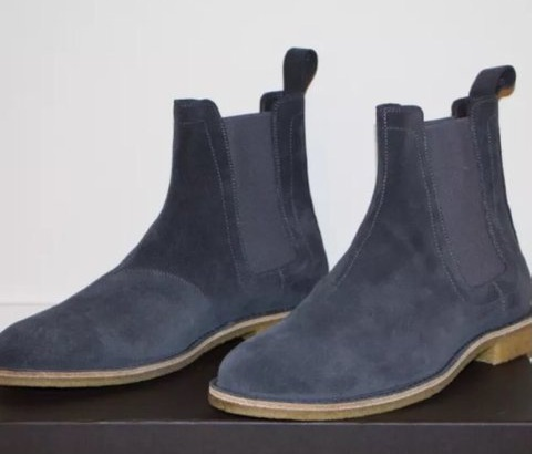 7d71403090e58 FREE SHIPPING. Handmade Men Dark Gray Suede Chelsea Boots, Men Gray Suede  Casual Ankle Boots