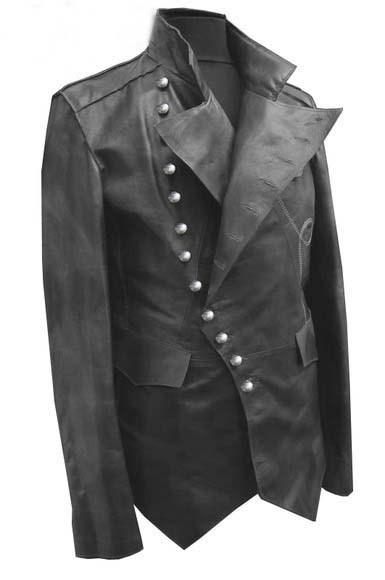 MEN STEAM PUNK JACKET, REAL LEATHER JACKET
