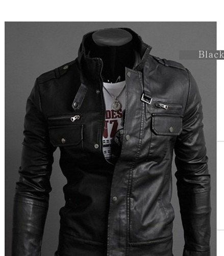MEN'S BLACK REAL LEATHER JACKET