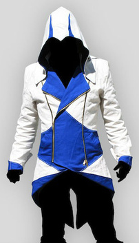 ASSASSIN'S (C KENWAY) CREED 3 WHITE/BLUE JACKET