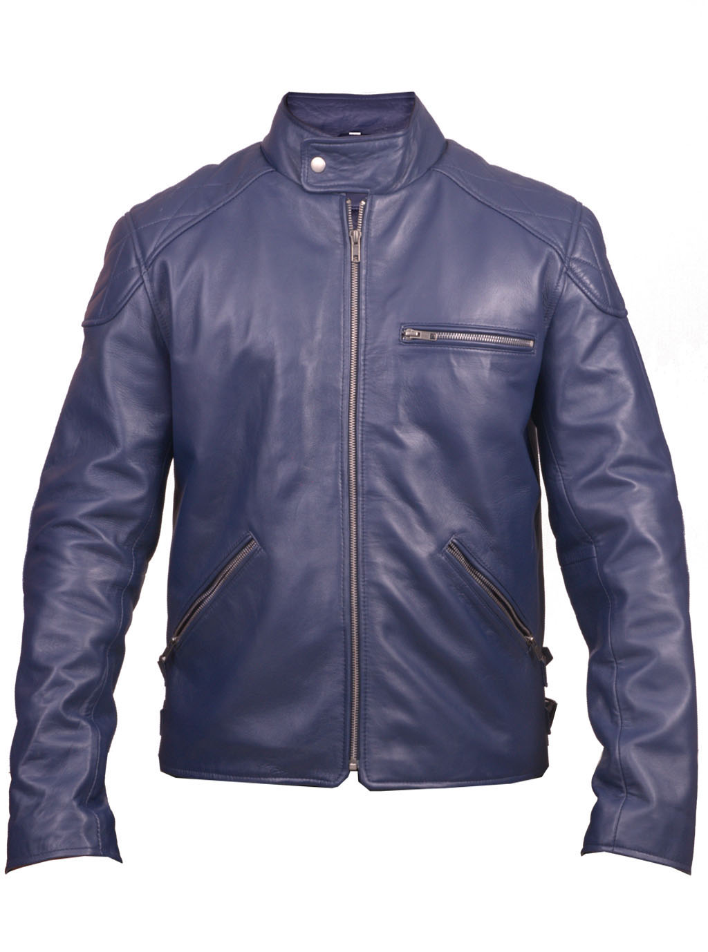 NAVY BLUE LEATHER JACKET, ORIGINAL LEATHER JACKET