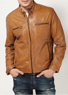 MEN LEATHER JACKETS, TAN COLOR LEATHER JACKET MEN'S on Luulla