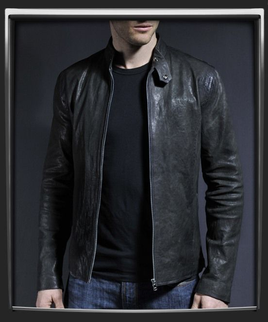 MENS LEATHER JACKET, BLACK COLOR JACKET MENS, MEN REAL LEATHER ...