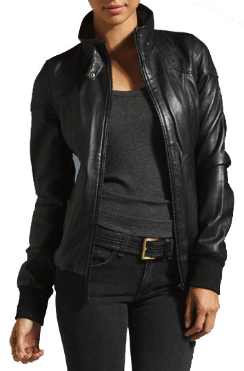 WOMEN DETACHABLE HOODED LEATHER JACKET, WOMEN HOODED LEATHER JACKETS