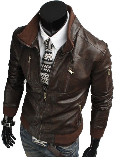 5ba10a637e6 HANDMADE MENS BIKER LEATHER JACKET