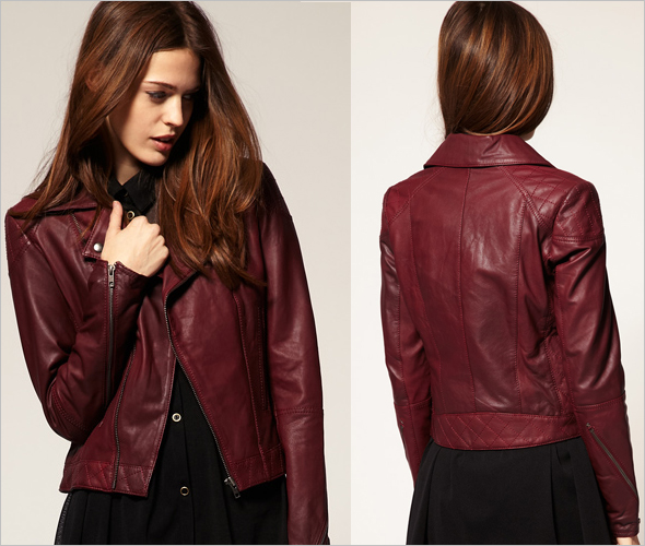 9501b98dff29 HANDMADE WOMEN MAROON LEATHER JACKET, WOMENS MAROON COLOR LEATHER JACKETS