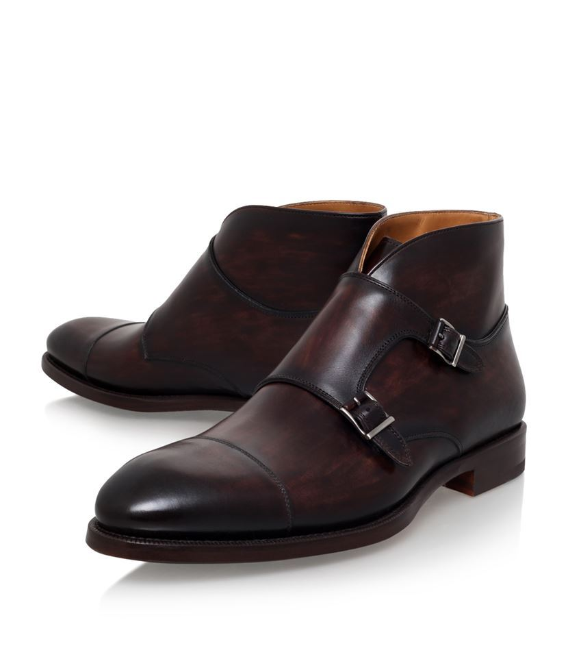e0bc4c5f73 Handmade men brown boots, double monk strap boot, men leather boots, formal  boot