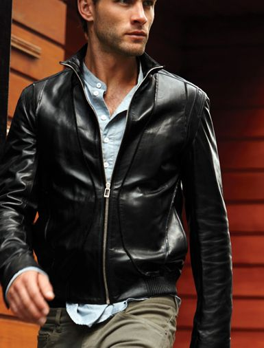 Mens Black Leather Jacket, Men Biker Leather Jacket, Mens Fashion ...
