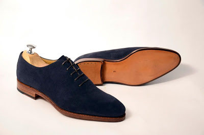 handmade mens good year welted sole suede dress shoes men