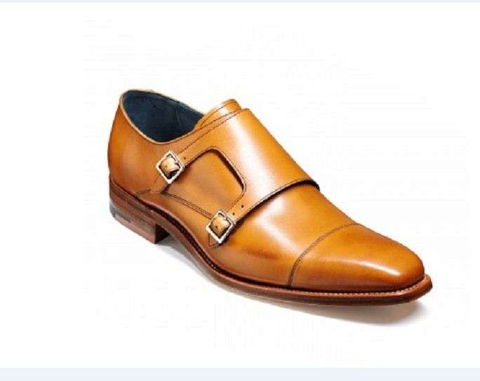 Handmade Men Tan Color Monk Shoes Men Dress Shoes Mens Formal