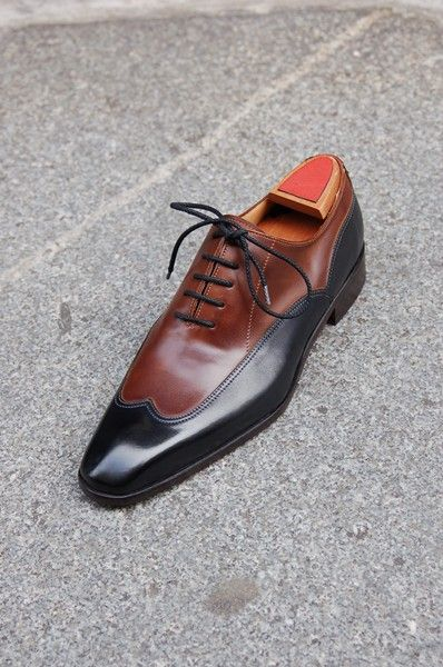 5ab85cbe1b Handmade Men Brown And Black Two Tone Formal Shoes