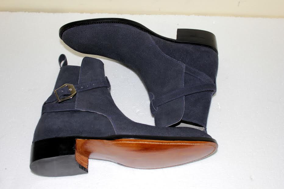 82ba48541 Handmade Men's Navy blue Suede jodhpurs boot, Mens Navy blue ankle suede  boot Email