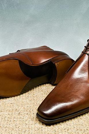 Handmade Men Brown Ankle Boots, Men Brown Formal Chukka Leather Boots