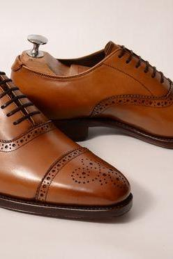 Men formal shoes, Men brown brogue shoes, Men dress shoes