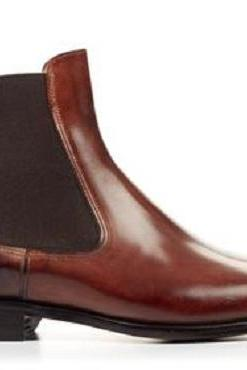 Handmade Men brown color Chelsea boots, Men ankle boots, Mens leather boots