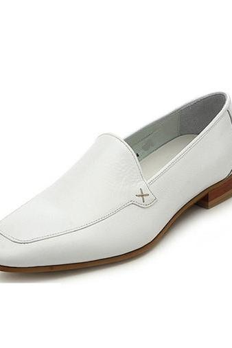 Handmade Men White leather moccasins, Men White dress shoes, Men custom shoes