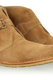 Handmade men monk strap tan color chukka boot, Mens suede boot, Men leather boot