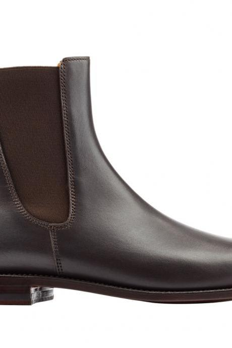 Handmade Chelsea boots, Men genuine leather Chelsea boot, Mens leather boots
