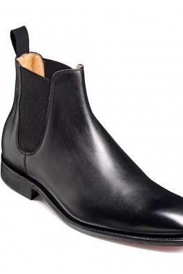 Men black genuine leather Chelsea boot,Men leather boot, Men formal boot