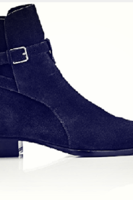 Handmade men Navy blue jodhpurs ankle boot, Men ankle high boot, men genuine suede boot
